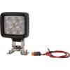 Work light LED, 24W, 1920lm, square, white, 105x84x95mm Deutsch plug, Flood, 8 LED's, Kramp