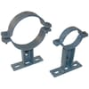Fitting -Clamps for PVC-pipe - with wall holder