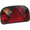 Rear light rectangular, 12V, red/transparent, bolt on, 240x52mm, Multipoint II by Aspöck