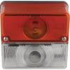 Marker light square, 12/24V, red/white, bolt on, 105x97x52mm, Britax