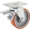 Lenkrollen - für schwere Lasten - mit Kugellager und Bremse