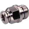 Insteekkoppeling recht - cilindrische buitendraad, binnen- en buitenzeskant - type SCS..B