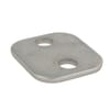 Cover plate single stainless steel