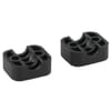 Pipe clamp set single polyamide black