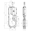 """MZ knife valves with pneumatic Cylinder - Cast iron - without discharge (6""""+ 8""""+ 10"""")"""