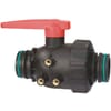 2-way ball valve, series 455 with fork connection