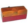 Rear light rectangular, 12V, red/orange, bolt on, 220x100mm, Hella
